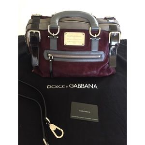 "Dolce and Gabbana Bordeaux ""Miss Easy Way"" Bag"